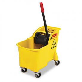 Rubbermaid® Commercial Tandem™ 31-Quart Bucket/Wringer Combo