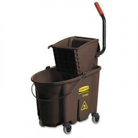 Rubbermaid® Commercial WaveBrakeBucket - Wringer Combos, Brown