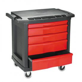 Rubbermaid® Commercial Five-Drawer Mobile Workcenter