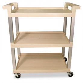 Rubbermaid® Commercial 3-Shelf Service Cart , 16-1/4w x 31-1/2d x 36h