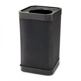 Safco® At-Your-Disposal Receptacle, Square, Polyethylene, 38gal, Black