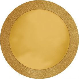 Gold Glitz Placemats Round with Border 14