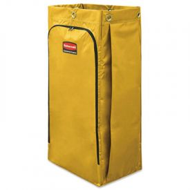 Rubbermaid® Commercial Vinyl Cleaning Cart Bag, 26 gal, Yellow
