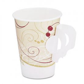 Dart Symphony Paper Hot Cups w/handle 8 oz