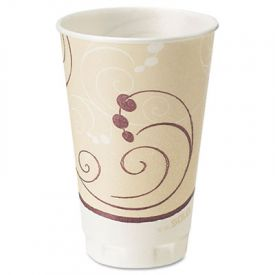 Trophy Insulated Thin-Wall Foam Cups, 16 oz, Hot/Cold, Symphony