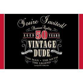 Vintage Dude Invitation, 50th