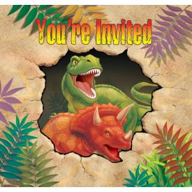 Dino Blast Invitation, Gatefold