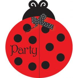 Ladybug Fancy Invitation, Gatefold