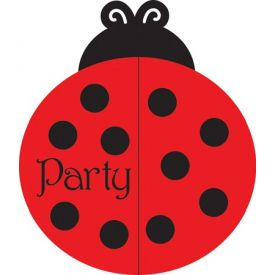 Ladybug Fancy Invitation Bulk Gatefold