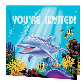Ocean Party Invitation, Gatefold