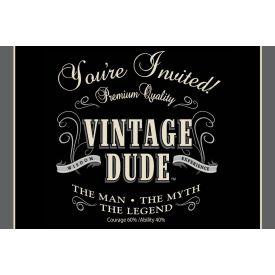 Vintage Dude Invitation, Gatefold