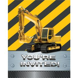 Construction Birthday Zone Invitation, Foil