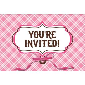 Heart My Horse Invitation, Diecut Gatefold w/ Ribbon
