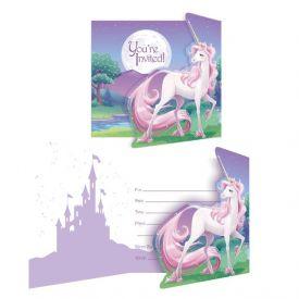 Unicorn Fantasy Invitation, Gatefold
