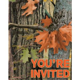 Hunting Camo Invitation, Foldover