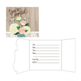 Rustic Wedding Invitation, Gatefold