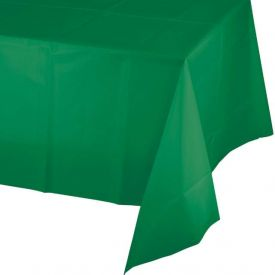 Emerald Green Table Cover Plastic 54