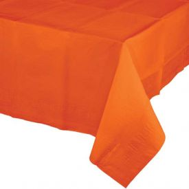 Sunkissed Orange Plastic Table Covers 54
