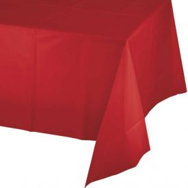 Classic Red Plastic Table Cover 54