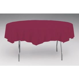Burgundy Tissue/Poly Table Cover 82