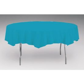 Turquoise Tissue/Poly Table Cover 82