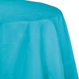 Bermuda Blue Tissue/Poly Table Cover 82