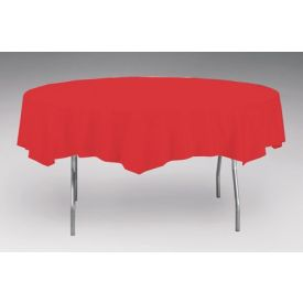 Classic Red Table Covers Paper, Plastic-Lined 82