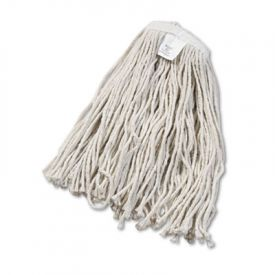UNISAN Cut-End Wet Mop Heads, Cotton, #20 Size, White