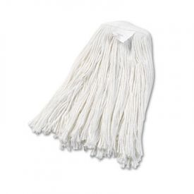 UNISAN Cut-End Wet Mop Heads, Rayon, #20 Size, White