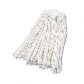 UNISAN Cut-End Wet Mop Heads, Rayon, #20 Size, White