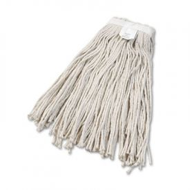 UNISAN Cut-End Wet Mop Heads, Cotton, #24 Size, White