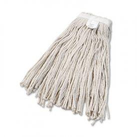 UNISAN Cut-End Wet Mop Heads, Cotton, #24 Size, White