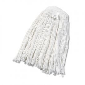UNISAN Cut-End Wet Mop Heads, Rayon, #24 Size, White