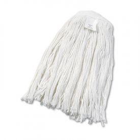UNISAN Cut-End Wet Mop Heads, Rayon, #24 Size, White
