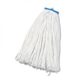 UNISAN Cut-End Lie-Flat Economical Mop Head, Rayon, 24-oz., White