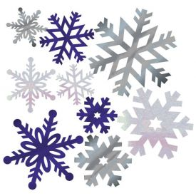 Snowflake Glitter Cutout Assortment