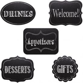 Chalkboard Cutout Assortment, Chalkboard