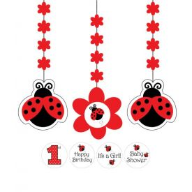 Ladybug Fancy Printed Hanging Cutouts, w/ Stickers