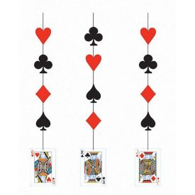 Card Night Printed Hanging Cutouts
