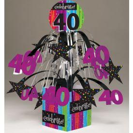 MILESTONE CELEBRATIONS 40TH BIRTHDAY CENTERPIECE