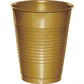 GLITTERING GOLD PLASTIC CUPS