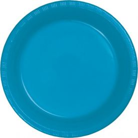TURQUOISE BLUE PLASTIC PLATES
