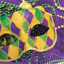MASKS OF MARDI GRAS NAPKINS