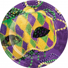 MASKS OF MARDI GRAS PAPER PLATES