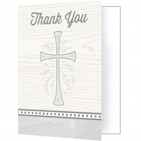 DIVINITY SILVER THANK YOU NOTES