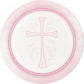 DIVINITY PINK PAPER PLATES