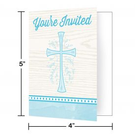 DIVINITY BLUE INVITATIONS