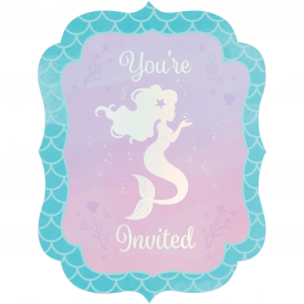 IRIDESCENT MERMAID PARTY INVITATIONS