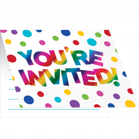 RAINBOW FOIL INVITATIONS