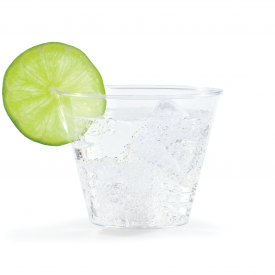 CLEAR PLASTIC TUMBLER CUPS 9 OZ